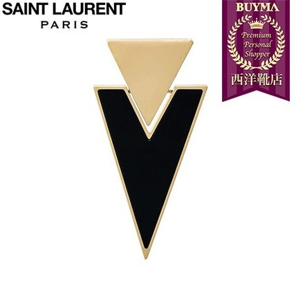 16/17秋冬入荷!┃SAINT LAURENT┃TRIANGLE CLIP-ON EARRINGS