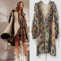 16-17AW C148 LOOK8 SILK CREPON DRESS WITH ROSACE PRINT