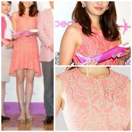 Time limited BCBGMAXAZRIA party in pink coral dress