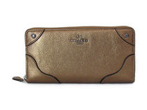 COACH Grain Leather Mickie Accordian Zip F52645