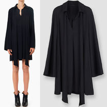 16-17AW C150 SHIRT DRESS IN LIGHT CADY WITH TIE
