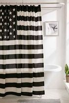 """SALE """"urbanoutfitters"""" B&W American Flag Shower Curtain"""