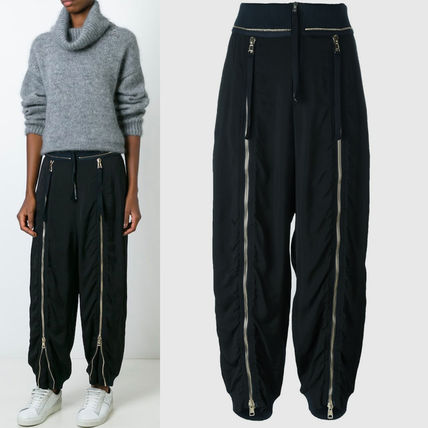 16-17AW C151 ZIP-FRONTED PANTS IN FLUID TWILL