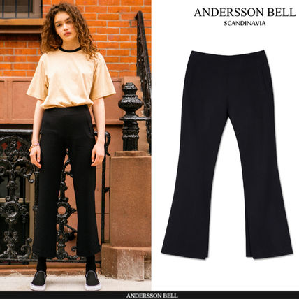 ANDERSSON BELL パンツ ★ANDERSSON BELL(アンダースンベル)★Silvia Slit Pants -BLACK