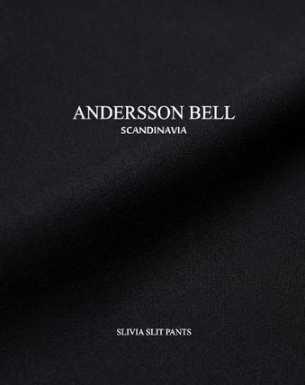 ANDERSSON BELL パンツ ★ANDERSSON BELL(アンダースンベル)★Silvia Slit Pants -BLACK(17)