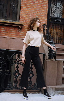 ANDERSSON BELL パンツ ★ANDERSSON BELL(アンダースンベル)★Silvia Slit Pants -BLACK(7)