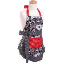 Flirty Aprons 子供エプロン  Scarlet Blossom 3-6才 [即発]
