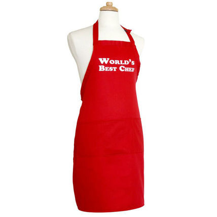 FLIRTY APRONS エプロン Flirty Aprons メンズエプロン World Best Chef Red  即発