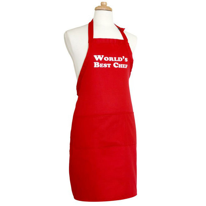 Flirty Aprons メンズエプロン World Best Chef Red  即発