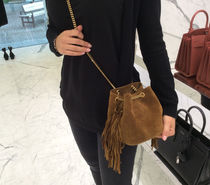 Saint Laurent16AW☆Emmanuelle fringe Bag☆Brown