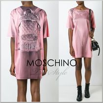 2016-17AW★Moschino リュック風 だまし絵 プリント ワンピース