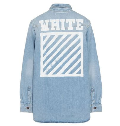 OFF WHITE 16AW BRUSHED DENIM SHIRT