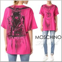 2016-17AW★Moschino リュック風 だまし絵 プリント Tシャツ