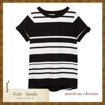kate spade 大人もOK! モノトーンボーダー柄 Tシャツ