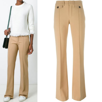 16-17AW C156 STRETCH WOOL FLARE PANTS