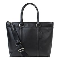 コーチ・メンズ F54758 Business Tote  Leather Black