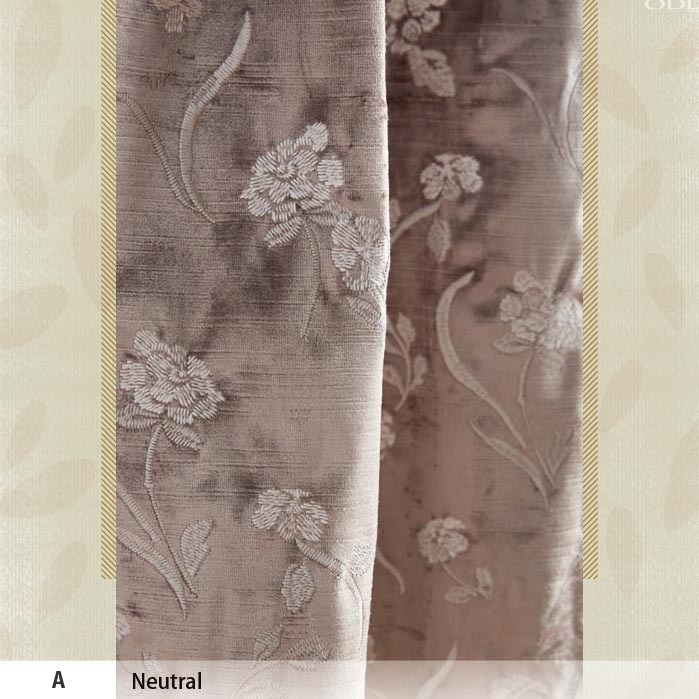 NEW!2016AW★贅沢なビスコースベルベットFloral Field Curtain★