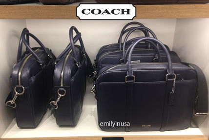 COACH popular SLIM BRIEF briefcase F54763 * midnight