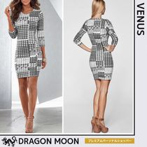 Venus*HOUNDSTOOTH SHEATH DRESS