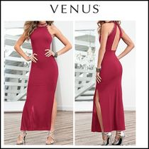 Venus*TRIM DETAIL LONG DRESS