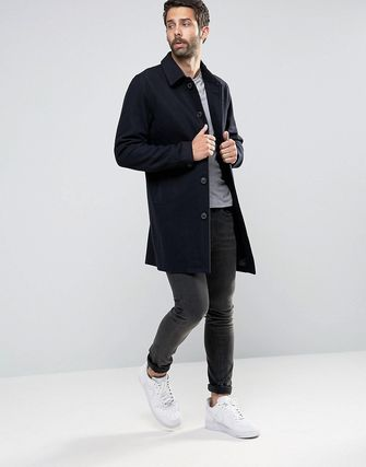 Only &Sons Wool Trench