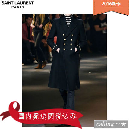セレブ愛用者多数☆SAINT LAURENT☆WOOL BLEND MILITARY COAT