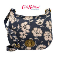 ☆Cath Kidston☆MINI TURNLOCK SADDLE BAG MONO POPPIES☆