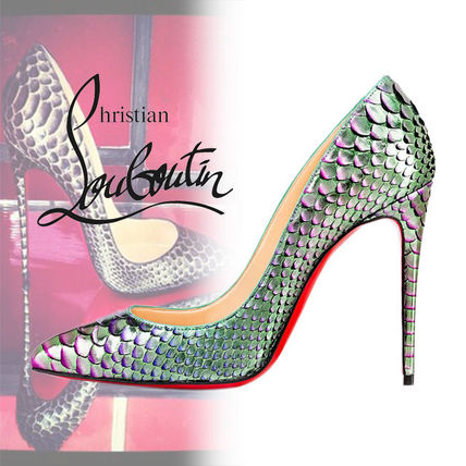 Christian Louboutin Pigalle Follies パイソン パンプス