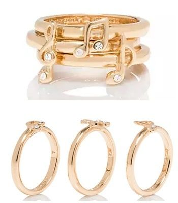 kate spade-music note stackable ring set リングセット
