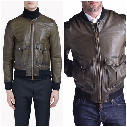 16-17AW DSQUARED2 Pilot Leather Bomber S74BN0633S39021703