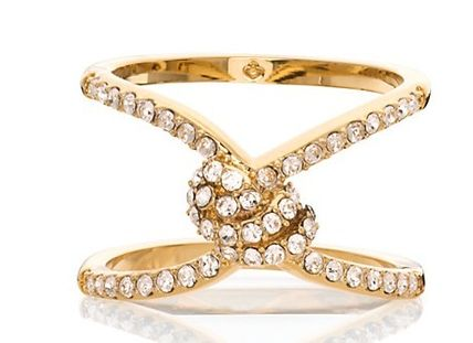 kate spade-infinity & beyond pave knot ring 関税・送込