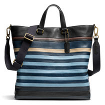 ☆COACH☆BlEECKER☆ BAR STRIPE レザー デイトート