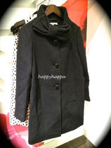 【kate spade】人気コート復刻!bow neck wool coat☆黒