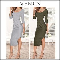 Venus*DRAPE FRONT DETAIL DRESS