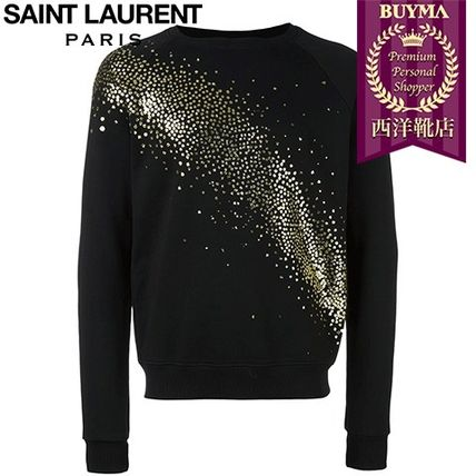 16/17秋冬入荷!┃SAINT LAURENT┃MILKY WAY GLITTER SWEATSHIRT