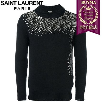 16/17秋冬入荷!┃SAINT LAURENT┃STUDDED CREW NECK SWEATER