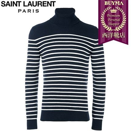 16/17秋冬入荷!┃SAINT LAURENT┃STRIPED TURTLENECK SWEATER