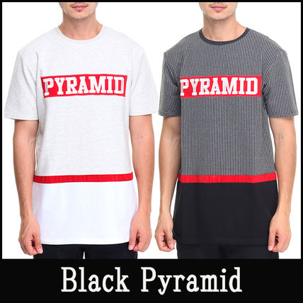 "16-17AW 新作 ""Black Pyramid"" Ripped Army プリントTシャツ"