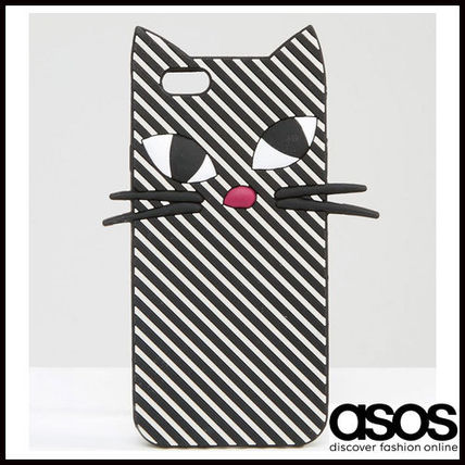 【新作】ASOS(Lulu Guinness) IPhone6/6s CATストライプケース