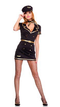 ハロウィン☆FOXY FLIGHT ATTENDANT COSTUME (XS.S/M.M/L.XL)
