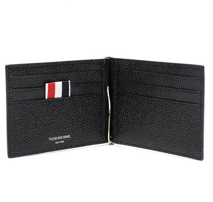 Thom Browne 16 AW PEBBLE CALF moneyclips _BLACK