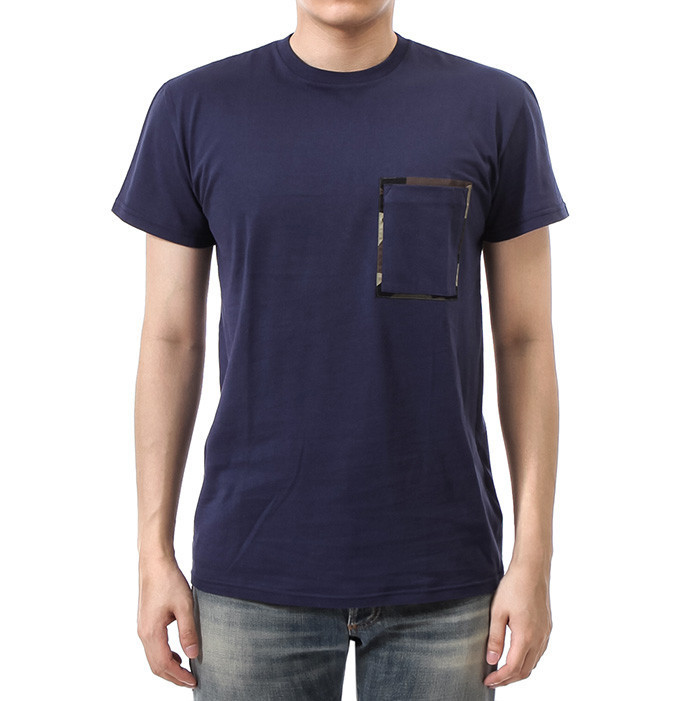 DIOR HOMME 16SS カモポイント ポケット Tシャツ_BLUE