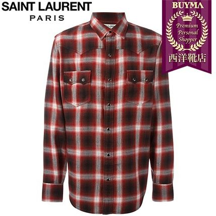 16/17秋冬入荷!┃SAINT LAURENT┃WESTERN CHECKED SHIRT