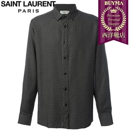 16/17秋冬入荷!┃SAINT LAURENT┃ STAR PRINT SHIRT┃11550874