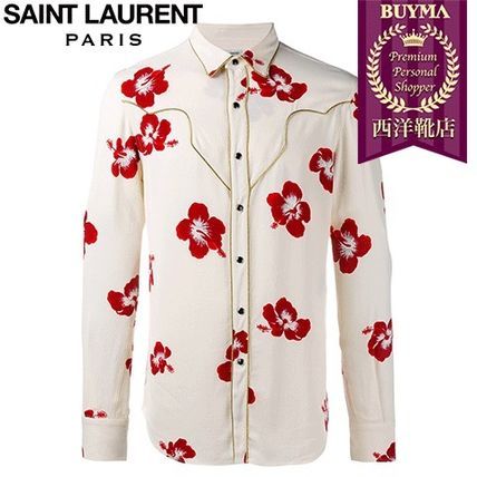 16/17秋冬入荷!┃SAINT LAURENT┃HIBISCUS FLORAL SHIRT