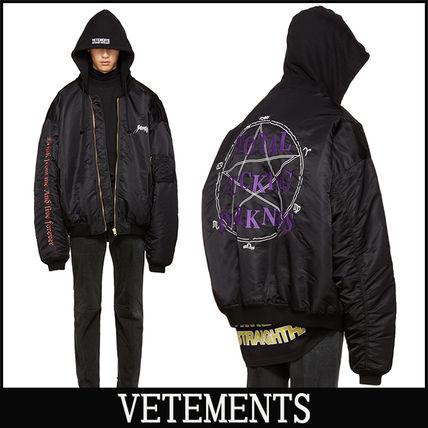 "16-17AW 新作 ""VETEMENTS"" Embroidered ボンバージャケット"