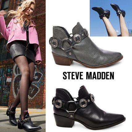 With Steve Madden ACES Western harness boots