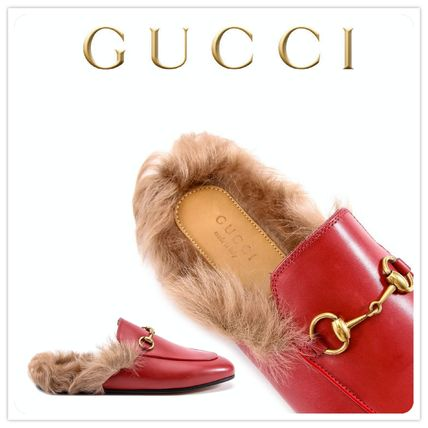 2016-17AW★GUCCI★ Princetown slipper / Red