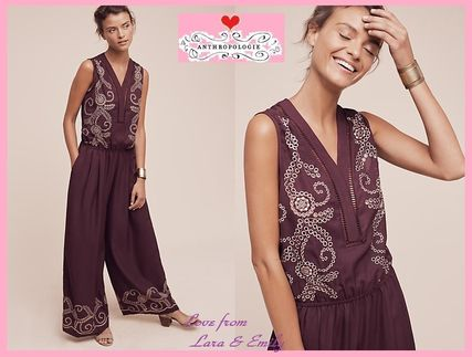 16AW☆最安値*関税送料込【Anthro】Teresa Embroidered Jumpsuit