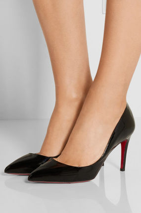CHRISTIAN LOUBOUTIN Pigalle 85 パテント パンプス ブラック